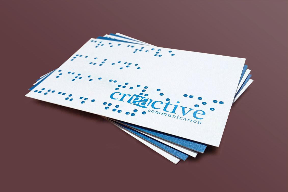 Cartes De Visite Braille