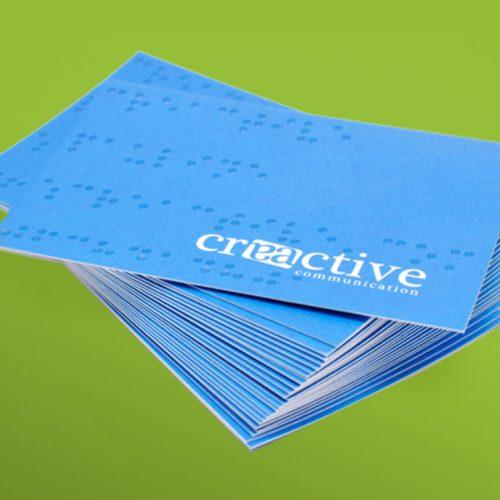 Carte commerciale en braille