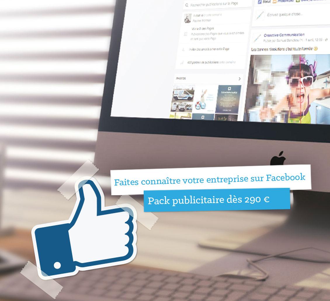 Publicité Facebook «Clé en main»