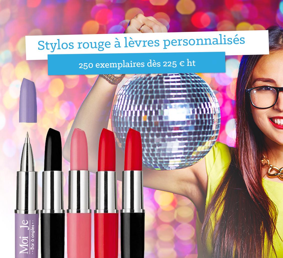 Stylos publicitaires déguisés en rouges à lèvres